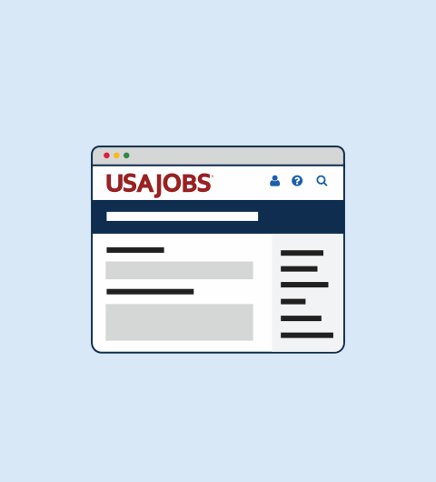 Icon showing a usajobs.gov job announcement